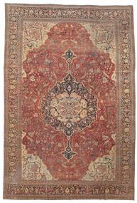 ファラハン 絨毯 368X550 オリエンタル 手織り 深紅色の/茶 大きな (ウール, ペルシャ/イラン)