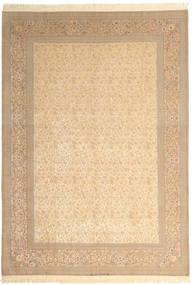 イスファハン 絹の縦糸 署名: Dardashti 絨毯 250X350 オリエンタル 手織り ベージュ/薄茶色 大きな (ウール/絹, ペルシャ/イラン)
