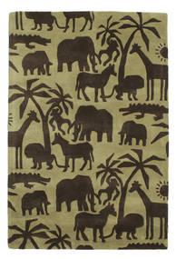 Africa Handtufted 絨毯 120X180 モダン 濃い茶色/オリーブ色/ライトグリーン (ウール, インド)
