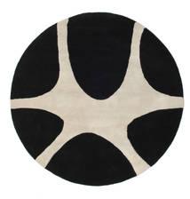 Stones Handtufted - 黒 絨毯 Ø 150 モダン ラウンド 黒/薄い灰色 (ウール, インド)