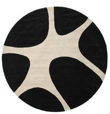 Stones Handtufted - 黒 絨毯 Ø 300 モダン ラウンド 黒/薄い灰色 大きな (ウール, インド)
