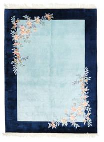 中国 Art シルク 120 Line 絨毯 170X230 オリエンタル 手織り 紺色の/水色/ターコイズブルー ( 中国)