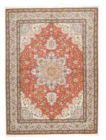 タブリーズ 50 Raj 絨毯 150X208 オリエンタル 手織り 薄い灰色/茶 (ウール/絹, ペルシャ/イラン)