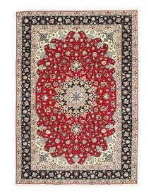 タブリーズ 50 Raj 絹の縦糸 絨毯 200X310 オリエンタル 手織り 薄い灰色/濃いグレー (ウール/絹, ペルシャ/イラン)