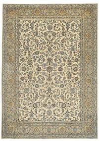 カシャン パティナ 署名: Tabatabai 絨毯 275X390 オリエンタル 手織り ベージュ/濃いグレー 大きな (ウール, ペルシャ/イラン)