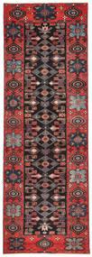 サべー パティナ 絨毯 100X303 オリエンタル 手織り 廊下 カーペット 濃い茶色/深紅色の (ウール, ペルシャ/イラン)