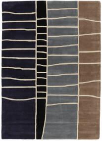 Abstract Bamboo Handtufted 絨毯 160X230 モダン 濃い紫/薄い灰色 (ウール, インド)