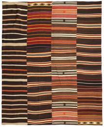 キリム パッチワーク 絨毯 242X298 モダン 手織り 濃い茶色/赤 (ウール, トルコ)