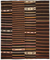 キリム パッチワーク 絨毯 250X300 モダン 手織り 濃い茶色/深紅色の 大きな (ウール, トルコ)
