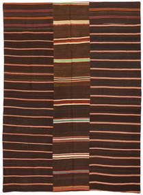キリム パッチワーク 絨毯 175X241 モダン 手織り 濃い茶色/深紅色の (ウール, トルコ)