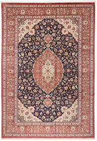クム シルク 絨毯 240X348 オリエンタル 手織り 茶/ベージュ (絹, ペルシャ/イラン)