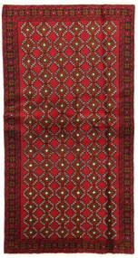 バルーチ 絨毯 100X191 オリエンタル 手織り 深紅色の/濃い茶色 (ウール, ペルシャ/イラン)