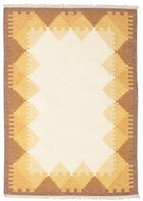 キリム Dorris - 茶 絨毯 140X200 モダン 手織り ベージュ/薄茶色 (ウール, インド)