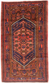 ハマダン 絨毯 143X247 オリエンタル 手織り 深紅色の/赤 (ウール, ペルシャ/イラン)