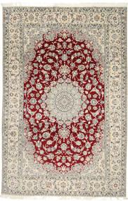 ナイン 9La 絨毯 202X310 オリエンタル 手織り 薄い灰色/ベージュ (ウール/絹, ペルシャ/イラン)
