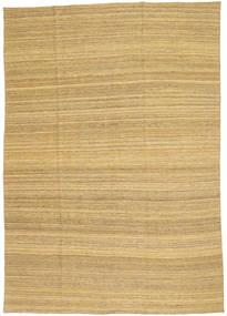 キリム モダン 絨毯 199X283 モダン 手織り 暗めのベージュ色の/薄茶色 (ウール, アフガニスタン)