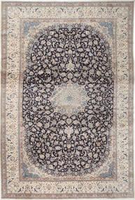 ナイン 9La 絨毯 408X610 オリエンタル 手織り 薄い灰色/濃いグレー 大きな (ウール/絹, ペルシャ/イラン)