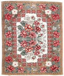 薔薇 キリム Moldavia 絨毯 177X213 オリエンタル 手織り 薄茶色/濃い茶色 (ウール, モルドバ)