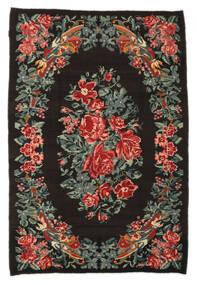 薔薇 キリム Moldavia 絨毯 176X256 オリエンタル 手織り 濃い茶色/濃いグレー (ウール, モルドバ)