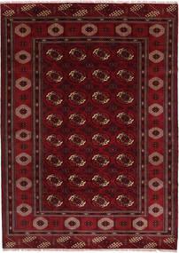 トルクメン 絨毯 208X287 オリエンタル 手織り 深紅色の/濃い茶色 (ウール, ペルシャ/イラン)