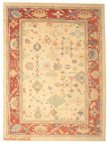 ウサク 絨毯 286X387 オリエンタル 手織り 黄色/ベージュ 大きな (ウール, トルコ)