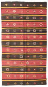 キリム セミアンティーク トルコ 絨毯 164X304 オリエンタル 手織り 濃い茶色/深紅色の (ウール, トルコ)