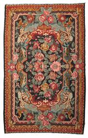 薔薇 キリム Moldavia 絨毯 215X345 オリエンタル 手織り 赤/オリーブ色 (ウール, モルドバ)