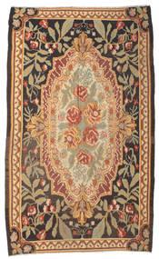薔薇 キリム Moldavia 絨毯 178X295 オリエンタル 手織り 茶/暗めのベージュ色の/薄茶色 (ウール, モルドバ)