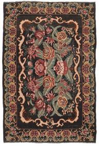薔薇 キリム Moldavia 絨毯 186X280 オリエンタル 手織り 濃い茶色/深紅色の (ウール, モルドバ)