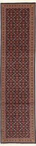 タブリーズ 50 Raj シルク製 絨毯 75X300 オリエンタル 手織り 廊下 カーペット 濃い茶色/深紅色の (ウール/絹, ペルシャ/イラン)