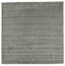 ハンドルーム Fringes - 濃いグレー 絨毯 250X250 モダン 正方形 濃いグレー 大きな (ウール, インド)