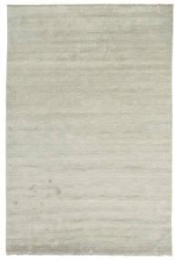 ハンドルーム Fringes - グレー/薄緑色 絨毯 200X300 モダン 薄い灰色/薄茶色 (ウール, インド)