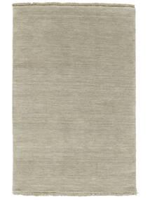 ハンドルーム Fringes - グレー/薄緑色 絨毯 140X200 モダン 薄い灰色/暗めのベージュ色の (ウール, インド)