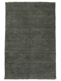 ハンドルーム Fringes - 濃いグレー 絨毯 140X200 モダン 濃いグレー (ウール, インド)