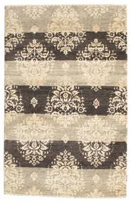 ギャッベ Loribaft 絨毯 120X185 モダン 手織り ベージュ/薄い灰色 (ウール, インド)