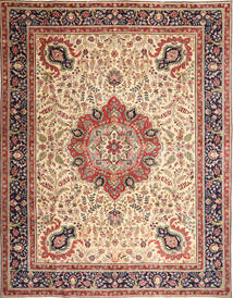 タブリーズ パティナ 絨毯 305X390 オリエンタル 手織り 薄茶色/ベージュ 大きな (ウール, ペルシャ/イラン)