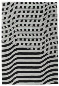 Passages Handtufted - 黒/グレー 絨毯 200X300 モダン 黒/薄い灰色/ターコイズブルー (ウール, インド)
