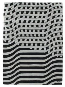 Passages Handtufted - 黒/グレー 絨毯 140X200 モダン 黒/ライトグリーン (ウール, インド)