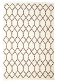 Renzo 絨毯 200X300 モダン 手織り ベージュ/薄い灰色 (ウール, インド)