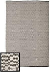 Diamond - 黒/白 絨毯 200X300 モダン 手織り 薄い灰色/濃いグレー (綿, インド)