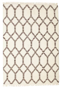 Renzo 絨毯 160X230 モダン 手織り ベージュ/薄い灰色 (ウール, インド)