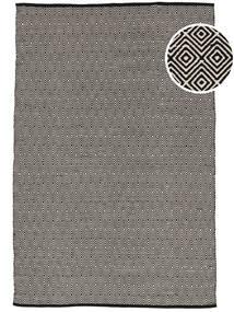 Diamond - 黒/白 絨毯 160X230 モダン 手織り 薄い灰色/濃いグレー (綿, インド)