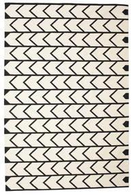 Delia 絨毯 200X300 モダン 手織り ベージュ/黒 (綿, インド)