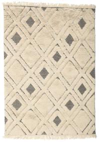 Yoko 絨毯 140X200 モダン 手織り 暗めのベージュ色の/薄茶色 (ウール, インド)
