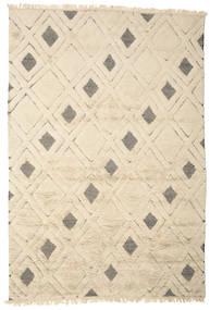Yoko 絨毯 200X300 モダン 手織り ベージュ/薄い灰色 (ウール, インド)