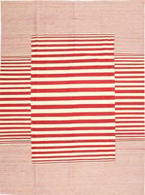 キリム モダン 絨毯 213X286 モダン 手織り ライトピンク/ベージュ/赤 (ウール, アフガニスタン)