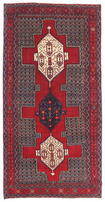 センネ パティナ 絨毯 145X299 オリエンタル 手織り 濃い茶色/赤 (ウール, ペルシャ/イラン)