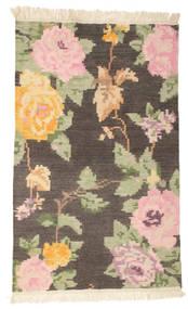 キリム カラバフ Amira - 茶 絨毯 100X160 モダン 手織り 濃い茶色/暗めのベージュ色の (ウール, インド)
