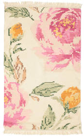 キリム カラバフ Sofia - ベージュ/Off-白 絨毯 100X160 モダン 手織り ベージュ/ライトピンク (ウール, インド)