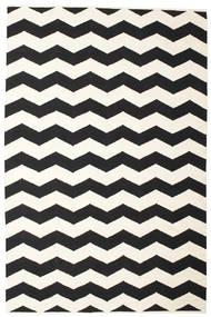 Echo 絨毯 200X300 モダン 手織り ベージュ/黒 (綿, インド)